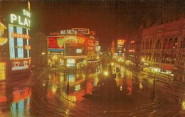 LONDON  PICCADILLY  AT  NIGHT       2 SCAN      (NUOVA) - Piccadilly Circus