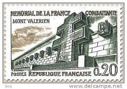 N° 1335 Mont Valérien Faciale 0,20 F - Ungebraucht