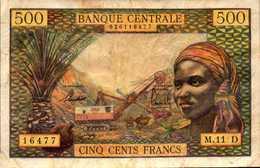 Banque Centrale Etats Afrique Equatoriale D=GABON Pick 4dh? 500 Fr 1963nd - États D'Afrique Centrale