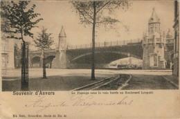 SOUVENIR D'ANVERS  LE PASSAGE SOUS LA VOIE FERREE AU BOULEVARD LEOPOLD      2 SCAN      (VIAGGIATA) - Non Classificati