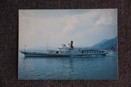 """LAC LEMAN - Le Bateau Salon """"RHONE"""", Au Large De VILLENEUVE. - Ships"""