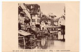 STRASBOURG - LE QUAI AUX CHEVAUX A LA KRUTENAU - 1869 -  Le Strasbourg Disparu - Maison D´Art Alsacienne - Strasbourg