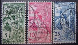 SUIZA - IVRT Nº 86/88 - SELLOS USADOS - 25 ANIV. UNION POSTAL UNIVERSAL - - ( M 003 ) - Usados