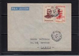 Lettre De TAMATAVE Madagascar   Le 16 JUIN 1949  Pour LA MARINE NATIONALE A Paris  Par Avion Avec 2 Timbres - Madagascar (1889-1960)