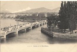 Cp Précurseur -    GENEVE  Et Le Mont Blanc     161 - GE Ginevra