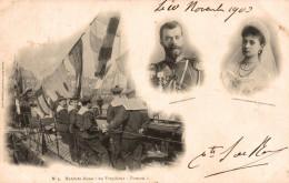 MATELOTS RUSSES DU TORPILLEUR PERNOW PORTRAIT DE NICOLAS II ET DE ALEXANDRA - Russia