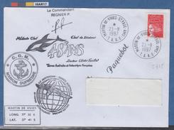 TVP LUQUET    Sur Pli St PAUL/AMS  : Ancre-dauphin-pingouin -manchot -oblitération PAQUEBOT ( 5715) - 1997-04 Marianne Of July 14th