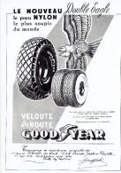 Publicité Pneu Nylon Double Eagle Goodyear + Coiffeur Roger + Bougies Swan Anvers - Publicités