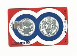 08 / 95  F581 MONNAIE DE PARIS  50 U SC7 C + 8 N° ROUGES SUR 2EME LIGNE UTILISÉE - Timbres & Monnaies