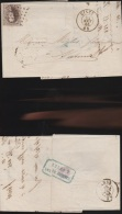 8674) BELGIO BELGIQUE KING LEOPOLD I 10 DIX CENT CENTESIMI VIAGGIATA 1865 DA CINEY A NAMUR BANQUE - 1863-1864 Medaillons (13/16)