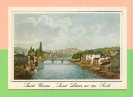 CPM  FRANCE  09  ~  SAINT-GIRONS - SAINT-LIZIER  Au 19e Siècle, Lithographie De Melling   (  Carterie Occitane  ) - Autres Communes