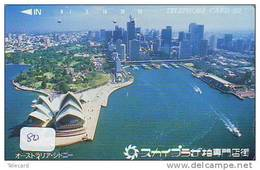Telecarte AUSTRALIE Reliée (80) OPERA SYDNEY * Telefonkarte AUSTRALIA Verbunden - Phonecard AUSTRALIA Related - Japan - Australië