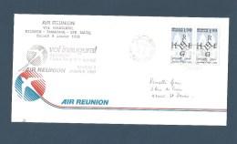 "REUNION - Pli Vol Inaugural Air Réunion ""Réunion - Tamatave - Saint Marie"",   - 1988 - Autres"