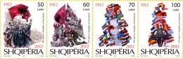 Albania Stamps 2012. The 100-th Anniversary Of The Declaration Of Independence - Set MNH - Albania