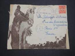 FRANCE / ALGÉRIE - Env. ( Devant ) Illustré Du 7ème Bataillon De Chasseurs Alpins 1955, Aff. Timbre FM - A Voir - L 5225 - Briefe U. Dokumente