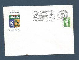 """REUNION - Pli Avec Flamme """"SREPEN Ruizia Cordata"""" - Saint Denis   - 1990 - Réunion (1852-1975)"""