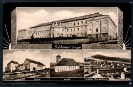 8103 - Alte MBK Ansichtskarte - Schlema - Kirche Schule Klinik - N. Gel - Neubert - Schlema