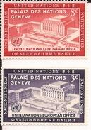 UNITED NATIONS ONU UNO NAZIONI UNITE 2 Stamps 1954 United Nations Day MNH** Nuovi - Ungebraucht
