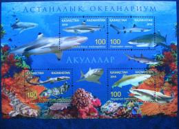 Kazakhstan  2016  Astana  Oceanarium.  Shark  S/S   MNH - Marine Mammals