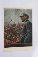 """RUSSIAN REVOLUTION In Art - Brodsky """"Lenin In Moscow""""  - OLD Soviet POSTCARD  -1973 - PROPAGANDA - Lenin - Historia"""