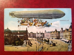 Frankfurt Am Main (Francfort) - Zeppelin - Ballon Dirigeable - Linie Friedrichschafen - Memel - Frankfurt A. Main