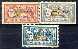 Marocco 1914 - 21 Serie N. 37-53 I 3 Valori Alti. MNH Catalogo € 37,50 - Unused Stamps