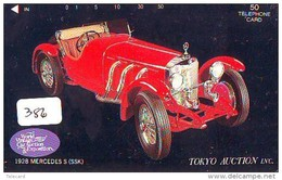 Télécarte JAPON * OLDTIMER * MERCEDES  (386)  * Phonecard JAPAN * VOITURE * Auto * CAR * TELEFONKARTE * - Autos