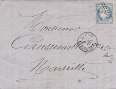 722   -  LAC  -   CERES  60  - BORDEAUX  -  MARSEILLE - Postmark Collection (Covers)