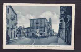 CPA ITALIE - LA SPEZIA - La Chiappa - Piazza De' Nobili - Monumento Ai Caduti - TB PLAN CENTRE VILLE ANIMATION Magasins - La Spezia