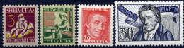 SWITZERLAND 1927 Pro Juventute Set MNH / **.  Michel 222-25 - Pro Juventute