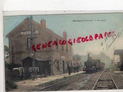 80 - AIRAINES - LA GARE   CARTE COLORISEE 1905-  RARE - France