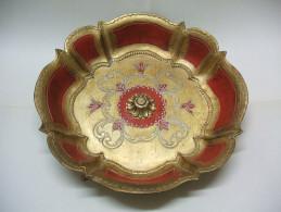 Joli PLAT CREUX Ou Corbeille, Peint Imitation Bois - ITALY Italie - Schalen Und Tabletts