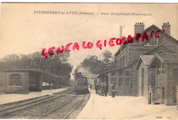 80 - PIERREPONT SUR AVRE - GARE HARGICOURT PIERREPONT - 1914 - France