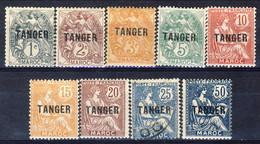 Marocco 1918 - 24 Serie 80-97 Sovrastampa TANGER Lotto Di 9 Valori MLH (c. 25 Usato) Catalogo € 32 - Unused Stamps