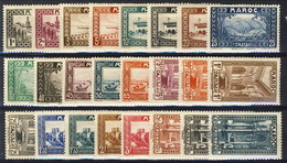 Marocco 1933 - 34 Serie N. 128-149 (24 Valori) MVLH Catalogo € 112 - Unused Stamps