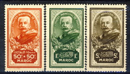 Marocco 1935 Serie N. 150-152 Maresciallo Lyautey MNH Catalogo € 92 - Unused Stamps