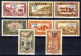 Marocco 1938 Serie N. 153-160 Opere Per L'infanzia MLH Catalogo € 44 - Unused Stamps