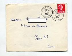 Lettre Cachet Vernaison Sur Muller - Storia Postale