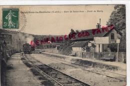 78 - SAINT NOM LA BRETECHE - GARE DE SAINT NOM - FRET DE MARLY   1909 - St. Nom La Breteche