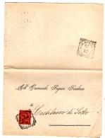 BOL1564 - REGNO 1893 , Da Reggio Emilia Per Castelnuovo Di Sotto - 1878-00 Umberto I