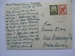 SAAR 1952 POSTCARD TO BAD GODESBERG WITH PICTURE OF SAARBRUCKEN TEILANSICHT - Brieven En Documenten