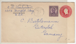 US Postal Stationery Stamped Envelope Travelled 1930 University Of Virginia To Gotha, Germany Bb161110