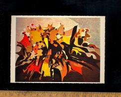 AUBUSSON Creuse : Lot De 4 Cp Tapisseries + Catalogue Expo 1965 Lully  Licorne Chevreuils Courbet Muguet Atelier Goubely - Aubusson
