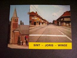 Pstk2985 : Sint Joris Winge - St Joris Kerk En Centrum - Tielt-Winge