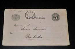 1- Carta Postala Roemenië Galati - Barladu - 1858-1880 Moldavie & Principauté