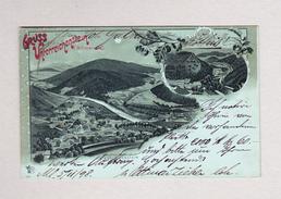 AK Tschechien UNTERREICHENSTEIN Gruss Aus Mondschein Litho OZM #5647 München 5.11.1898 Nach Röthis - Tchéquie