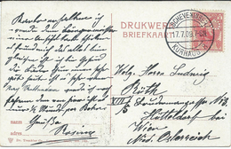 Netherlands Scheveningen 1909 - Perfin-Perforé-Perfins-Perforés Stamp.nice Postcard Roterdam. - Periode 1891-1948 (Wilhelmina)