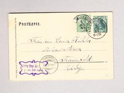 DR ULM A D O Bahnhof 6.7.1904 Postkarte 5 Pf Mit 5 Pf Zusatz Nach Frauenfeld TG