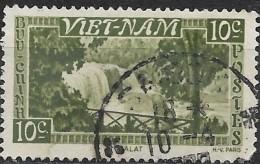 VIETNAM 1951 Bongour Falls, Dalat - 10c. - Bronze  FU - Viêt-Nam