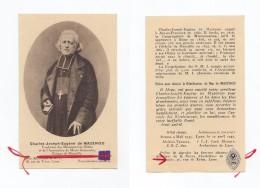 Image Pieuse Relique Charles-Joseph-Eugène De Mazenod, étoffe Non Précisée (Aix-en-Provence, Marseille) - Images Religieuses